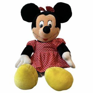 Vtg Walt Disney World MINNIE MOUSE Plush Jumbo